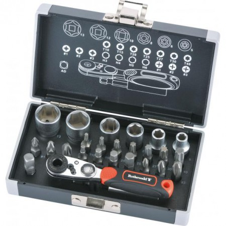 "ROTHEWALD набор инструмента Mini-Ratchet Set  1/4"", 26-Piece (10002872)"