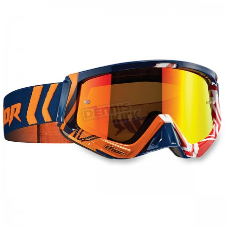 Thor маска Sniper MX Goggles - Geo Navy/Orange  2017 (26011939)