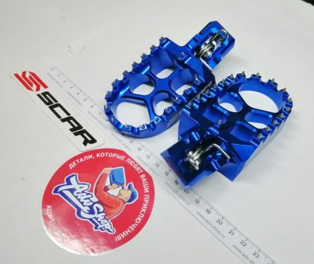 Scar EVO FOOTPEGS Blue Color Подножки Синие - KTM 125-150SX/250-450SX-F 2016-19/HQV TC125, FC 2016-19