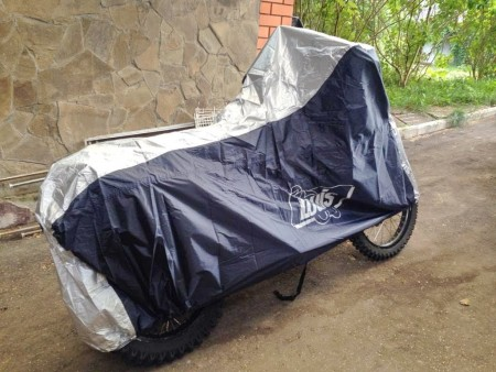 LS BIKE COVER STYLE ONE SIZE, BLUE-SILVER чехол для мотоцикла (OUTSIDE)