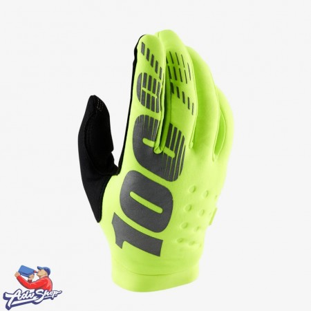 Мотоперчатки 100% Brisker Glove Fluo Yellow XXL (10016-004-14) 100PC